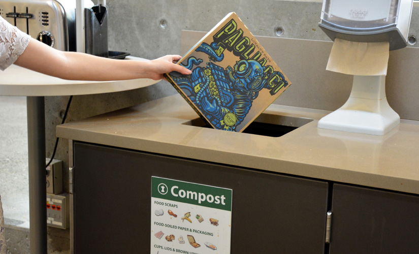 Composting pizza boxes